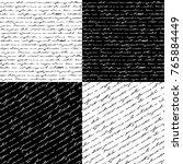 set of seamless handwriting... | Shutterstock .eps vector #765884449