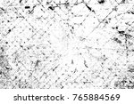grunge black and white pattern. ... | Shutterstock . vector #765884569