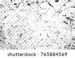 grunge black and white pattern. ... | Shutterstock . vector #765884569