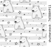 cute seamless pattern with... | Shutterstock .eps vector #765884911