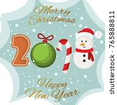 merry christmas and happy new... | Shutterstock .eps vector #765888811