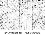 grunge black and white pattern. ... | Shutterstock . vector #765890401