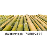 bamboo wooden old table. use... | Shutterstock . vector #765892594