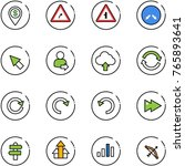 line vector icon set   dollar... | Shutterstock .eps vector #765893641