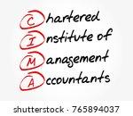 cima   chartered institute of... | Shutterstock .eps vector #765894037