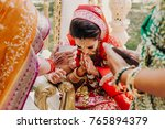 stunning indian bride dressed... | Shutterstock . vector #765894379