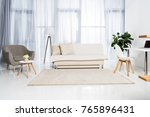 beautiful living room interior... | Shutterstock . vector #765896431