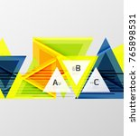 color triangles background ... | Shutterstock .eps vector #765898531