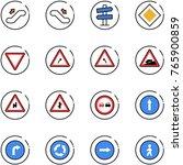 line vector icon set  ... | Shutterstock .eps vector #765900859