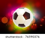 football on the color glow...   Shutterstock . vector #76590376