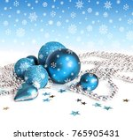 christmas  decorations on white ... | Shutterstock . vector #765905431