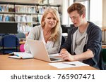 college student has individual... | Shutterstock . vector #765907471