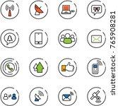 line vector icon set   antenna... | Shutterstock .eps vector #765908281