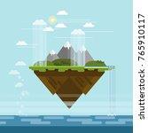 vector flat design floating... | Shutterstock .eps vector #765910117