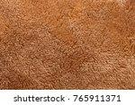 texture of brown fluffy soft... | Shutterstock . vector #765911371