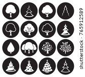 tree icons set | Shutterstock .eps vector #765912589
