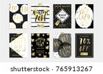 holidays cards and posters... | Shutterstock .eps vector #765913267