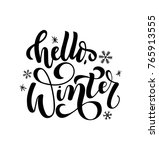hello winter lettering card.... | Shutterstock .eps vector #765913555