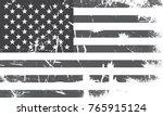 grunge usa flag.vintage black... | Shutterstock .eps vector #765915124