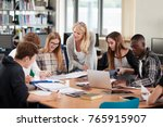 female teacher working with... | Shutterstock . vector #765915907