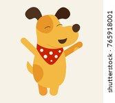 vector illustration of yellow... | Shutterstock .eps vector #765918001