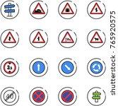 line vector icon set   road... | Shutterstock .eps vector #765920575