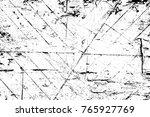 grunge black and white pattern. ... | Shutterstock . vector #765927769