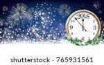 silvester card header with... | Shutterstock .eps vector #765931561