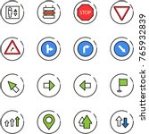line vector icon set   elevator ... | Shutterstock .eps vector #765932839