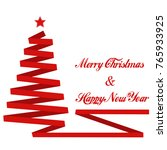merry christmas and happy new... | Shutterstock . vector #765933925