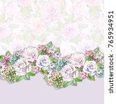beautiful flowers border... | Shutterstock . vector #765934951