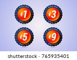 special price badges with euro... | Shutterstock . vector #765935401
