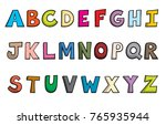 Cartoon Style Alphabet Letters