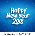 happy new year lettering on... | Shutterstock .eps vector #765936991