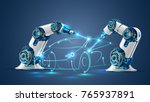 robot welder in automobile... | Shutterstock .eps vector #765937891