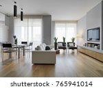 interiros shots of a modern... | Shutterstock . vector #765941014