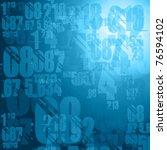 dark blue numbers background illustration - stock photo