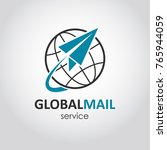 mail delivery vector logo. web... | Shutterstock .eps vector #765944059