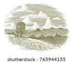 woodcut illustration of a... | Shutterstock .eps vector #765944155