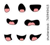 set of mouths cartoon | Shutterstock .eps vector #765945415
