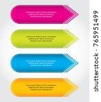 special arrow stickers ... | Shutterstock .eps vector #765951499