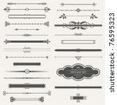 vector set  calligraphic design ... | Shutterstock .eps vector #76595323