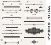 vector set  calligraphic design ... | Shutterstock .eps vector #76595323