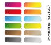 empty color label set | Shutterstock .eps vector #765956674
