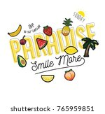 fruit patch and slogan | Shutterstock .eps vector #765959851