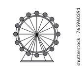 ferris wheel icon image  | Shutterstock .eps vector #765960391
