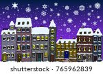 cartoon style street of old... | Shutterstock . vector #765962839
