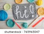 Crochet. Greeting Word Hi  Wor...
