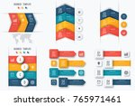 set with infographics. data and ... | Shutterstock .eps vector #765971461