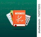 math science banner.... | Shutterstock .eps vector #765973201